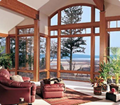 Enjoy the scenery with our classic glass windows!